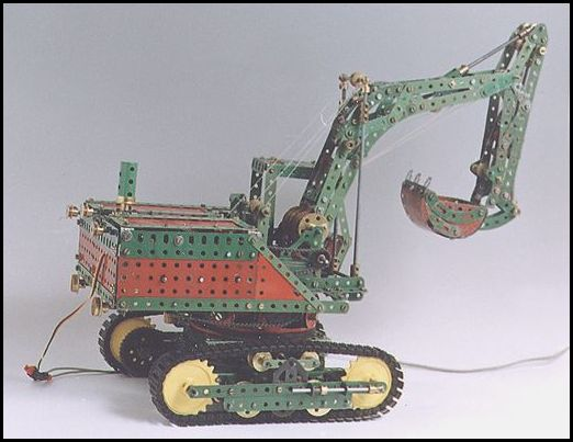 The Meccano Model Library Photo Gallery Backhoe Tracked